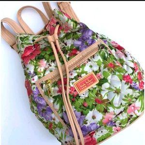 Nicole Miller New York Floral Drawstring Backpack